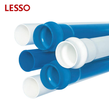 LESSO Hot sell non-toxic 50 years service life pvc pipe for water supply pvc collapsible plastic pipe