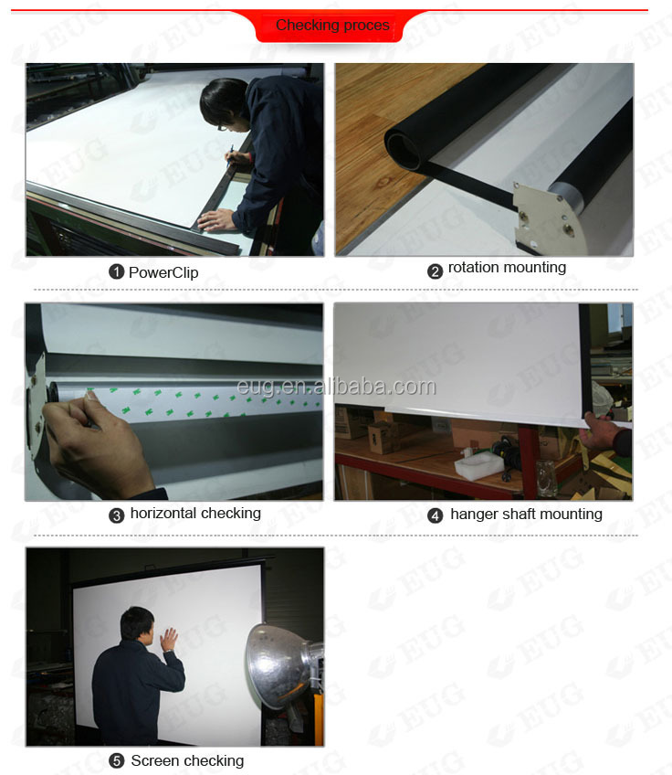 Projector Screen Manual Pull down Pull-up Pull Out Matte White Board