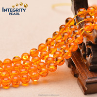 6mm 8mm 10mm cheap wholesale synthetic amber, amber resin, round amber