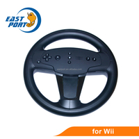 Black color game steering wheel