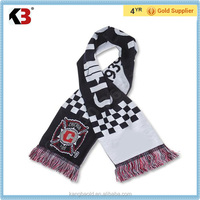 2016 Made in China wool scarf high quality men's scarf football sport sports scarf made in china