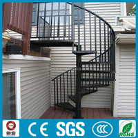 granite anti-slip exterior wrought iron spiral stairs supplier --YUDI