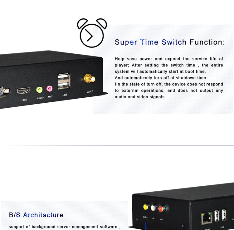 Time switch Network portable digital signage