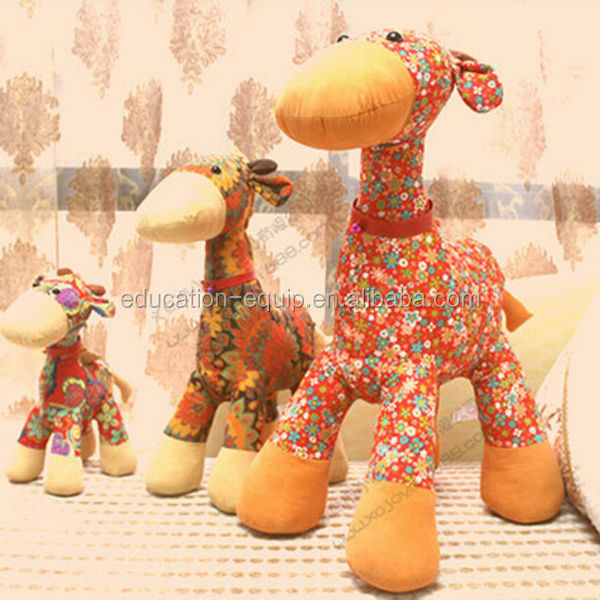 SE932002 Giraffe Type Stuffed Plush Fabric Doll Toy