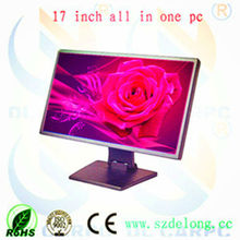 2013 New Product DL 17'' Aluminum Resistance Touch Screen Indoor Cheap Desktop All In One Touch Screen computer