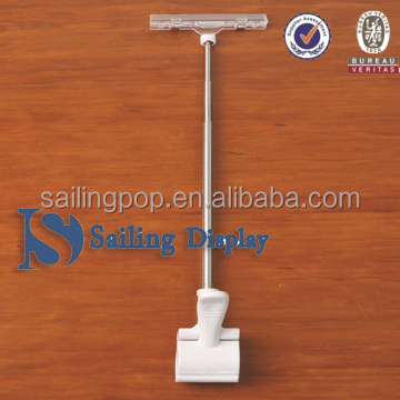 telescopic pole clamp for supermarkets