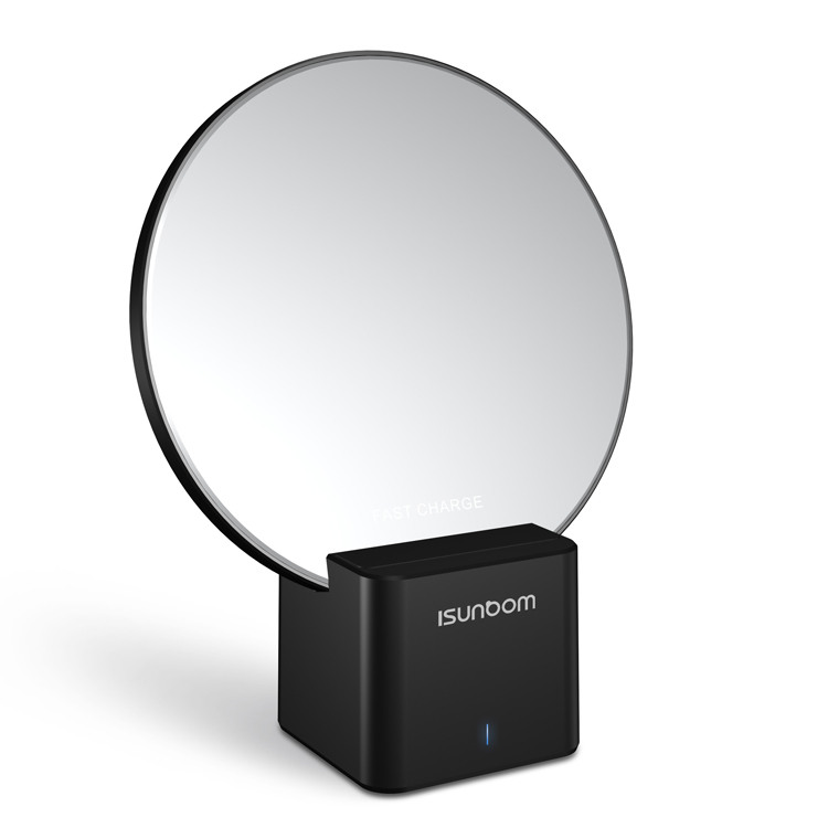 2019 New design 2 in <strong>1</strong> mobile phone mirror stand wireless charger for iphone xs