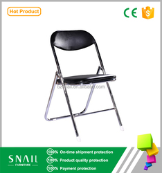 air conditioned office medical convenience Metal chrome padded racing style folding chair
