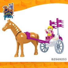 Horse carriage for girl educational puzzle games cheap toys for kids