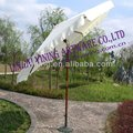 10' round wood outside printing parasol with tilt