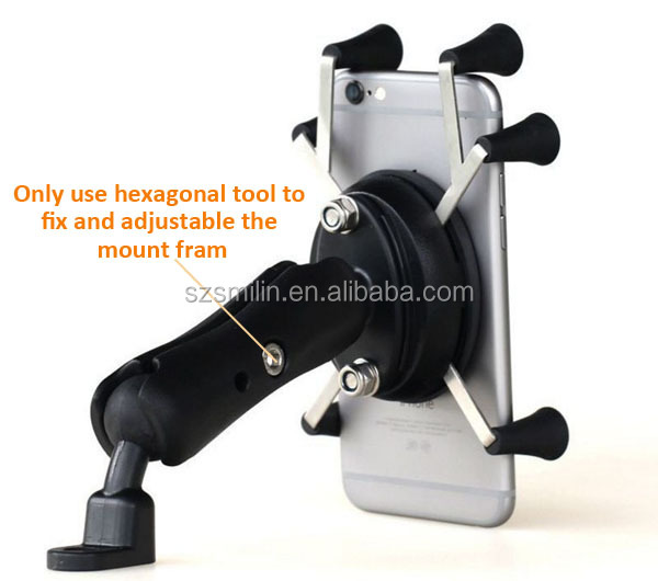 Christmas BLACK FRIDAY motorcycle accessories 4-6inch cell phone clip mount bracket for motorbike rearview mirror