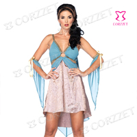 Adult Exotic Apparel Blue Cosplay Clubwear Egyptian Girl Sexy Dress Halloween Costumes