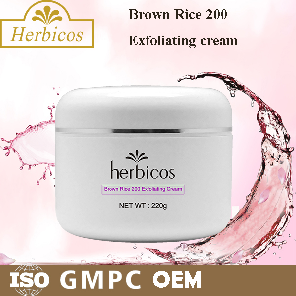 Brown Rice 200 Exfoliating Cream 200g/Private Label Cosmetics