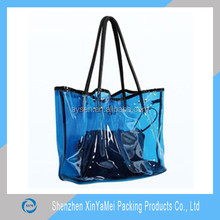 Waterproof large transparent pvc beach bag with zipper