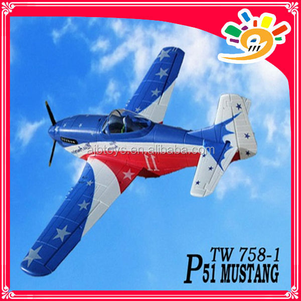 1.4m 2.4G EPO warbird P51 Mustang TW758-1 electric hobby Brushless airplane rc model rc glider