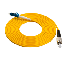 FC - LC SM Single mode flexible armored fiber optical patch cord cable
