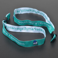 Special bulk cheap custom polyester fabric wristbands wholesale