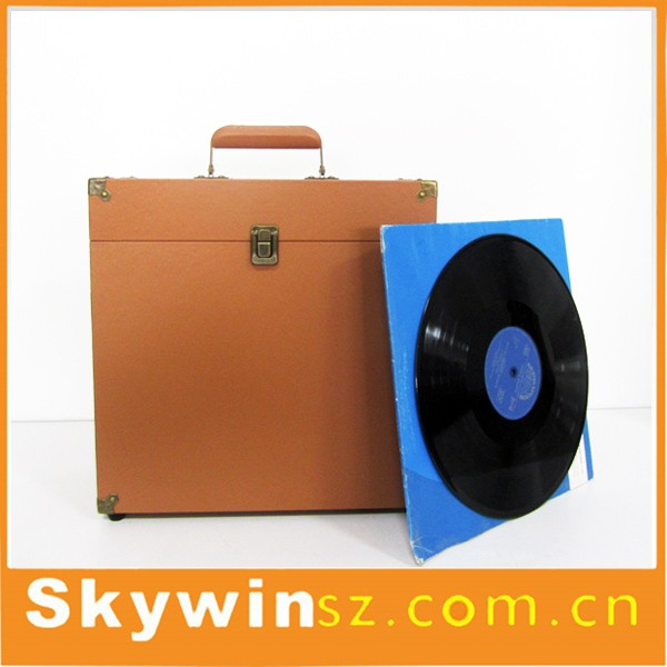 Hot Sale Vinyl Record Carry Case Flight Storage Box