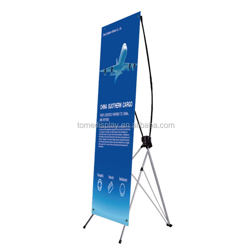 new x banner design x stand model flex banner stand for garment