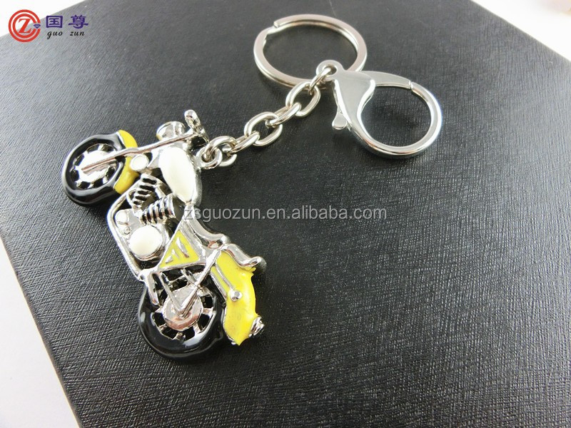 Wholesale latest design motorbike/motorcycle shaped keychain/ keyring/ key finder