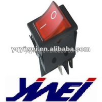 120v rocker switch lever Red dpst big current illuminated electrical rocker switch