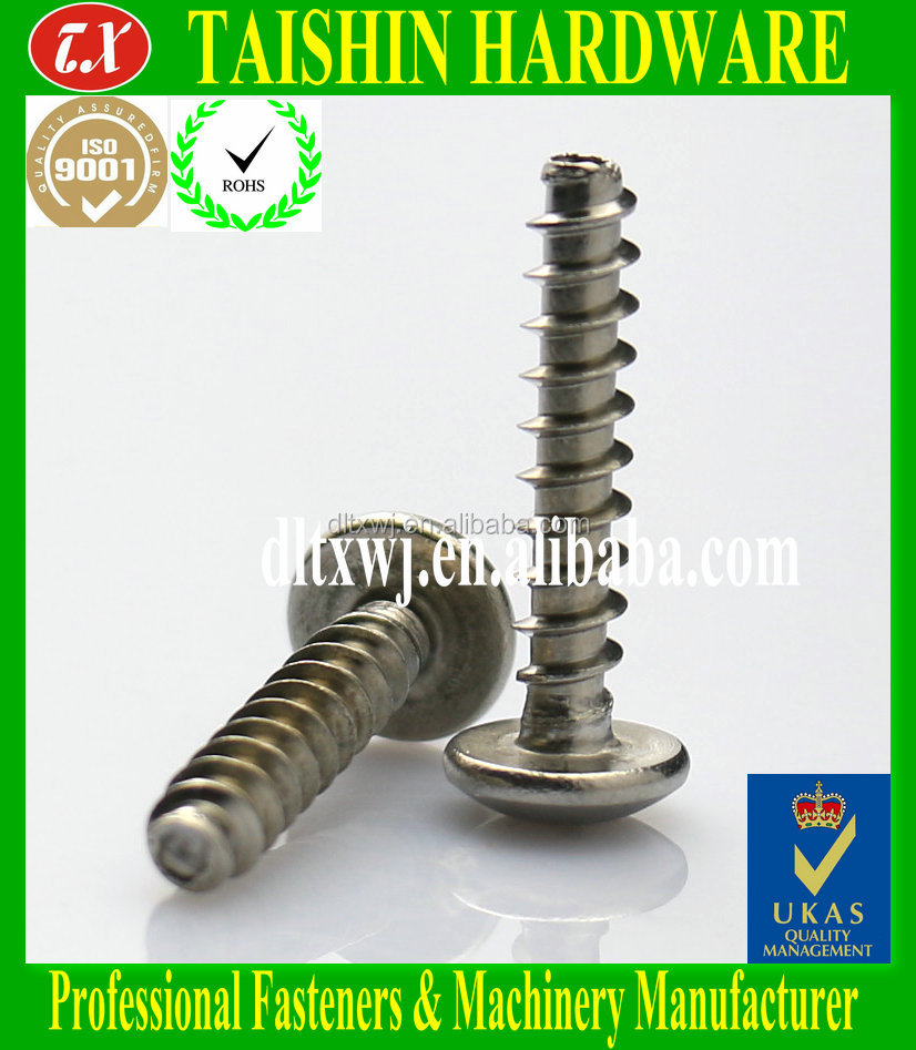 Nickel Plated Phillips Pan Head Self Tapping Screw with flat tail