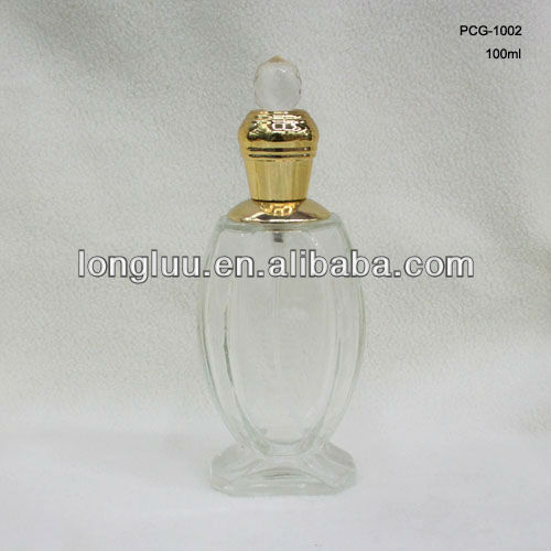 100ml crystal head cap perfume bottle