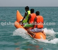 (CE)PVC material 3 persons 12ft inflatable banana rubber boat for sale