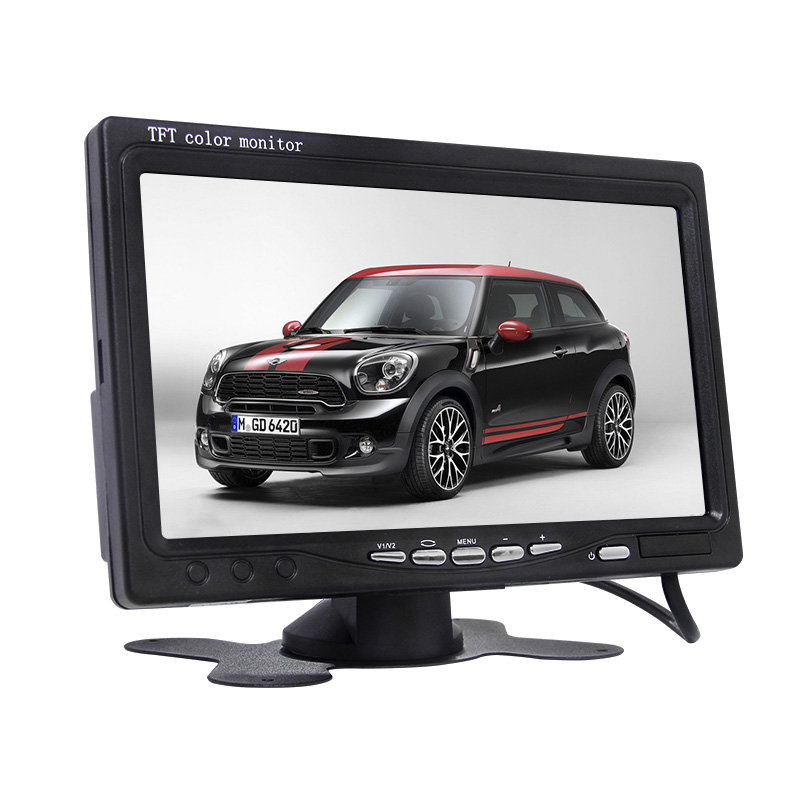 2AV wireless headrest monitor 7 inch car display stand 2 channels