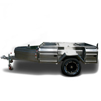 Stainless Steel Off Road Tent Camper Trailer