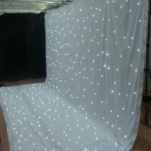 2015 hot sale led star cloth / stage back cloth/led light stage curtain