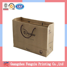 Guangzhou Recycled Packaging 230g Brown Kraft Paper Bag Cotton Rope Handbag