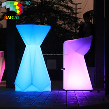 Rechargeable Event Illuminated LED Cocktail Tables With Color Changing LED Tables For Bar