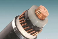 single core 185mm2 copper xlpe insulated steel wire armored 3.6/6 kv SWA power cable