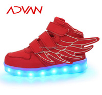 Popular Glowing Shoes Size 25-37 Small Order New Style Nice Look Wholesale Kids LED Sneakers
