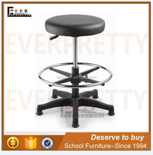 New School Padded Seat Swivel Adjustable Lab Stool with Foot Rest