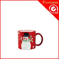 hot selling custom made snowman coffee mug