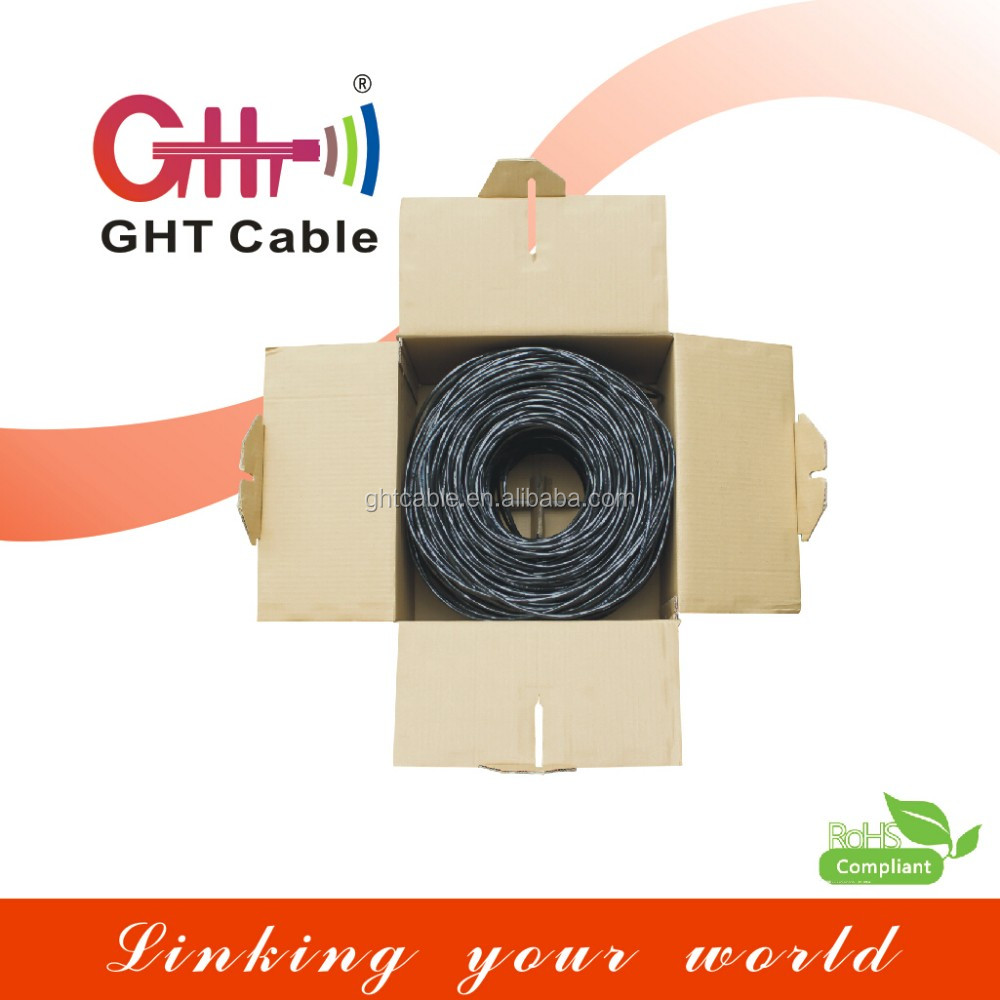 SFTP Cat6 cable Indoor/outdoor network Lan Cable 305 Meters Passed Fluke with certifications