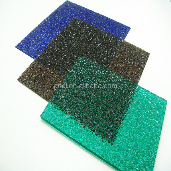 Blue Color Diamond High Quality 3mm Polycarbonate Embossed Sheet