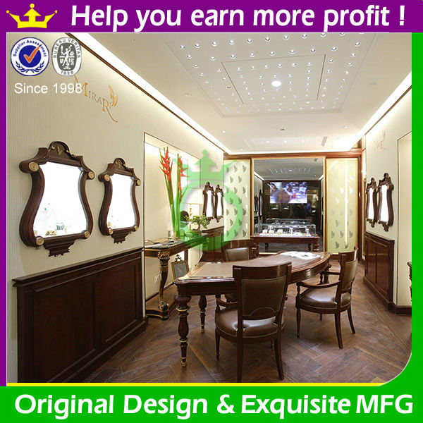 Antique high quality jewelry display furniture for jewelry shop in europe