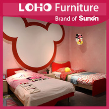 Fashion Cheap MPB/MDF/Melamine The Modern Simple Kid's Bedroom From LOHO Furniture