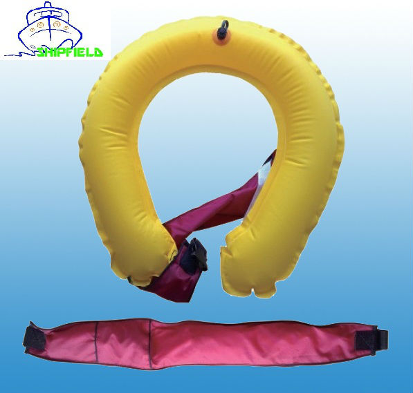 Fishing and boating waist inflatable life buoy