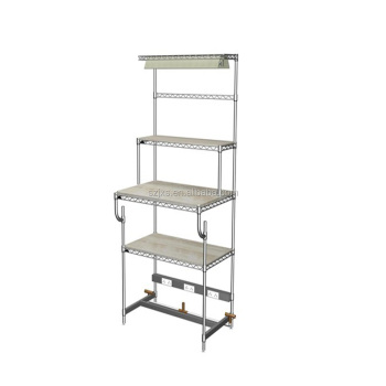 Workshop electric utility wire mesh shelving for industrial ,worktable wire shelves, shelves for industrial