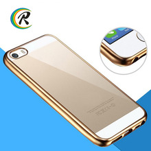 Factory Price silicone for iphone case for iPhone 5 5s Electroplating tpu silicone wood leather soft phone case