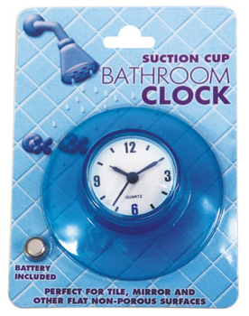 Bathroom suction clock, waterproof shower clock