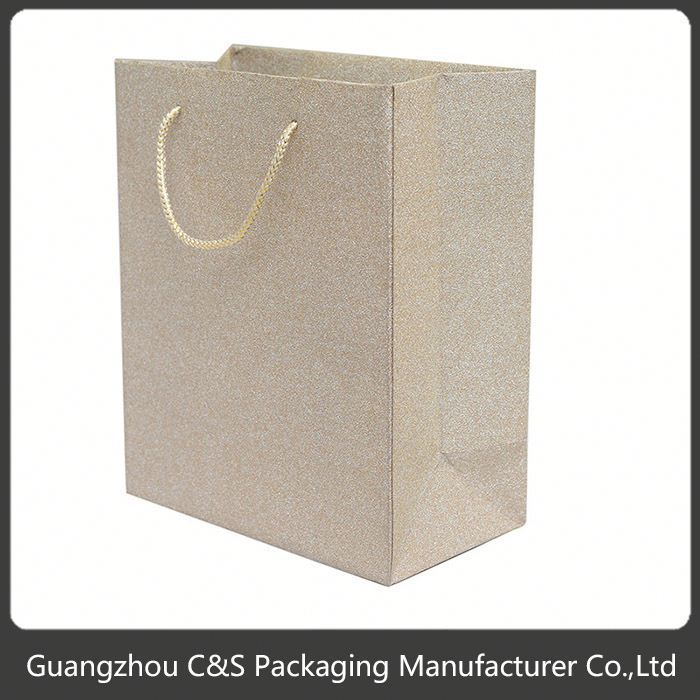 High-End Handmade Elegant And High-End Retail Fiber Optic Paper Bag