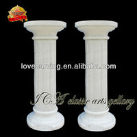 Natural small white stone pillars for sale