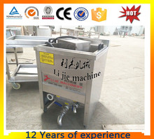 Factory Supply small scale mini 10-100kg/hour french fries gas oil-water mixed fryer/frying machine