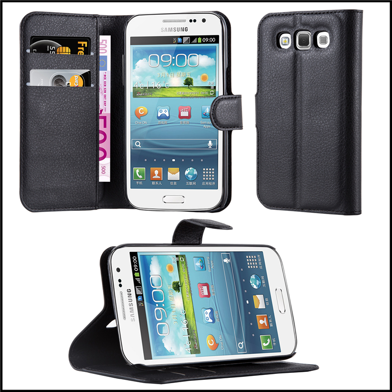 Premium Wallet Leather Moblie Phone Case Cover for Samsung Galaxy Win I8552