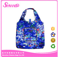 Foldable 210D Polyester Women Promotional Shopping Bag